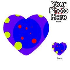 Purple And Yellow Dots Multi Purpose Cards (heart)
