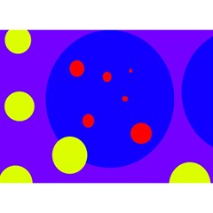 Purple And Yellow Dots Birthday Cake 3d Greeting Card (7x5)