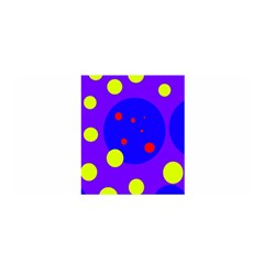 Purple And Yellow Dots Satin Wrap by Valentinaart