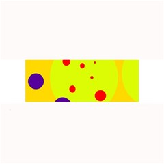 Yellow And Purple Dots Large Bar Mats by Valentinaart