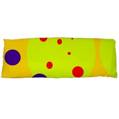 Yellow And Purple Dots Body Pillow Case (dakimakura) by Valentinaart