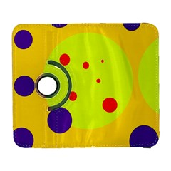 Yellow And Purple Dots Samsung Galaxy S  Iii Flip 360 Case by Valentinaart