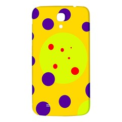 Yellow And Purple Dots Samsung Galaxy Mega I9200 Hardshell Back Case by Valentinaart