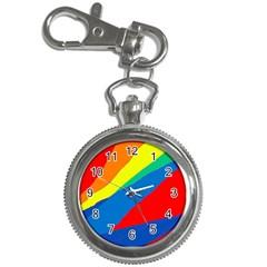 Colorful Abstract Design Key Chain Watches by Valentinaart