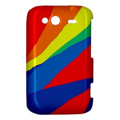 Colorful abstract design HTC Wildfire S A510e Hardshell Case by Valentinaart