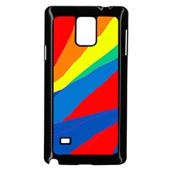 Colorful abstract design Samsung Galaxy Note 4 Case (Black)