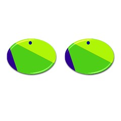 Colorful Abstract Design Cufflinks (oval) by Valentinaart
