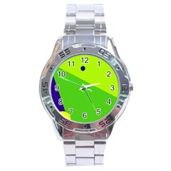 Colorful Abstract Design Stainless Steel Analogue Watch by Valentinaart