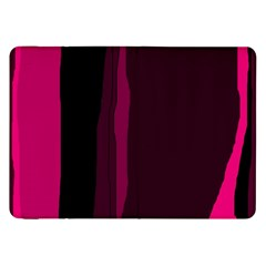 Pink and black lines Samsung Galaxy Tab 8.9  P7300 Flip Case by Valentinaart