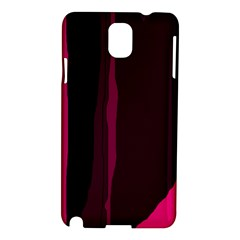 Pink And Black Lines Samsung Galaxy Note 3 N9005 Hardshell Case by Valentinaart