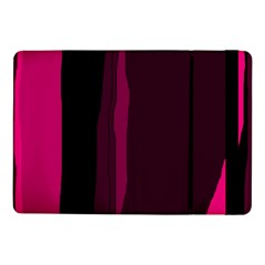 Pink and black lines Samsung Galaxy Tab Pro 10.1  Flip Case by Valentinaart