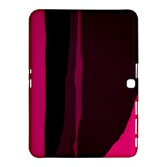 Pink And Black Lines Samsung Galaxy Tab 4 (10 1 ) Hardshell Case  by Valentinaart