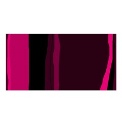 Pink And Black Lines Satin Shawl by Valentinaart
