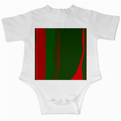 Green And Red Lines Infant Creepers by Valentinaart