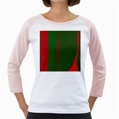 Green and red lines Girly Raglans by Valentinaart