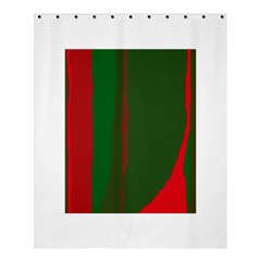 Green And Red Lines Shower Curtain 60  X 72  (medium)  by Valentinaart