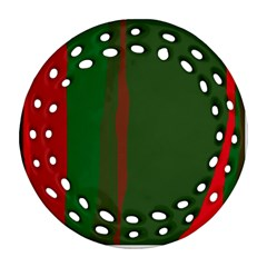Green and red lines Ornament (Round Filigree)