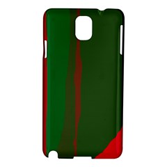 Green and red lines Samsung Galaxy Note 3 N9005 Hardshell Case