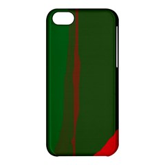 Green And Red Lines Apple Iphone 5c Hardshell Case by Valentinaart