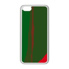 Green And Red Lines Apple Iphone 5c Seamless Case (white) by Valentinaart
