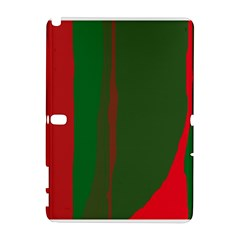 Green And Red Lines Samsung Galaxy Note 10 1 (p600) Hardshell Case by Valentinaart
