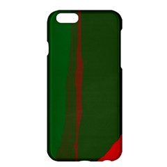 Green And Red Lines Apple Iphone 6 Plus/6s Plus Hardshell Case by Valentinaart