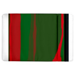 Green And Red Lines Ipad Air 2 Flip by Valentinaart