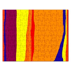 Hot Colorful Lines Rectangular Jigsaw Puzzl by Valentinaart