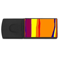 Hot Colorful Lines Usb Flash Drive Rectangular (4 Gb)  by Valentinaart