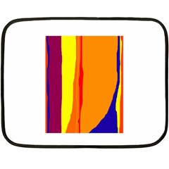 Hot colorful lines Double Sided Fleece Blanket (Mini)