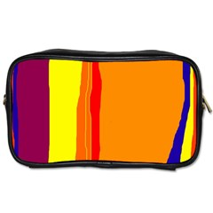 Hot Colorful Lines Toiletries Bags 2 Side by Valentinaart