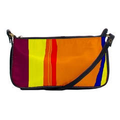 Hot Colorful Lines Shoulder Clutch Bags by Valentinaart