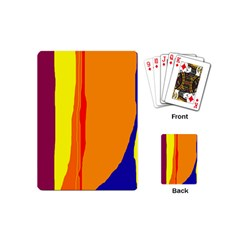 Hot Colorful Lines Playing Cards (mini)  by Valentinaart