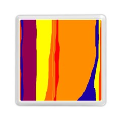 Hot Colorful Lines Memory Card Reader (square)  by Valentinaart