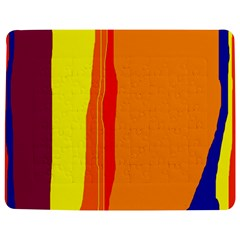Hot colorful lines Jigsaw Puzzle Photo Stand (Rectangular) by Valentinaart
