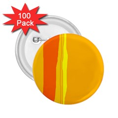 Yellow and orange lines 2.25  Buttons (100 pack)  by Valentinaart