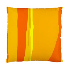 Yellow And Orange Lines Standard Cushion Case (two Sides) by Valentinaart