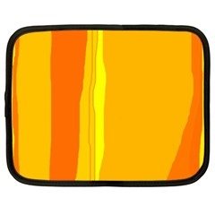 Yellow And Orange Lines Netbook Case (xxl)  by Valentinaart