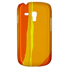 Yellow And Orange Lines Samsung Galaxy S3 Mini I8190 Hardshell Case by Valentinaart