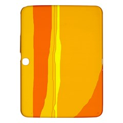 Yellow And Orange Lines Samsung Galaxy Tab 3 (10 1 ) P5200 Hardshell Case  by Valentinaart