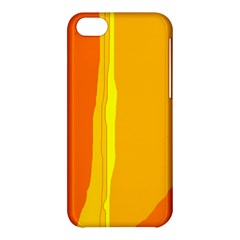 Yellow And Orange Lines Apple Iphone 5c Hardshell Case by Valentinaart