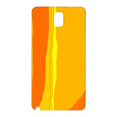 Yellow And Orange Lines Samsung Galaxy Note 3 N9005 Hardshell Back Case by Valentinaart