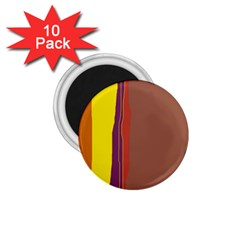 Colorful Lines 1 75  Magnets (10 Pack)