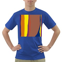 Colorful Lines Dark T Shirt by Valentinaart