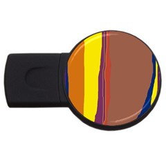 Colorful Lines Usb Flash Drive Round (4 Gb)
