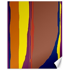Colorful Lines Canvas 16  X 20   by Valentinaart