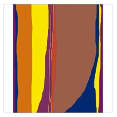 Colorful Lines Large Satin Scarf (square) by Valentinaart
