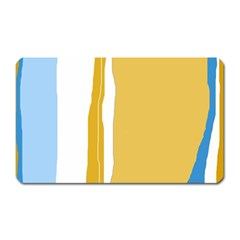 Blue And Yellow Lines Magnet (rectangular) by Valentinaart