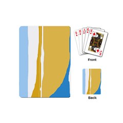 Blue And Yellow Lines Playing Cards (mini)  by Valentinaart