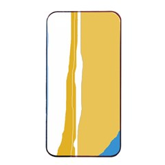 Blue And Yellow Lines Apple Iphone 4/4s Seamless Case (black)